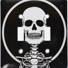 Decorative Light Switch Plate Double Toggle Metal Black & White Skeleton Design