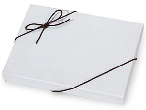 """Gift Box Elastic Stretch Loops with Pre-Tied Bows - Solid Black 10"""" Loops"""