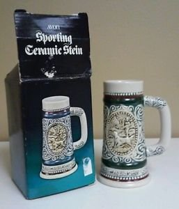 Collectible Avon sporting ceramic stein 1983 Decorative Small Beer Stein