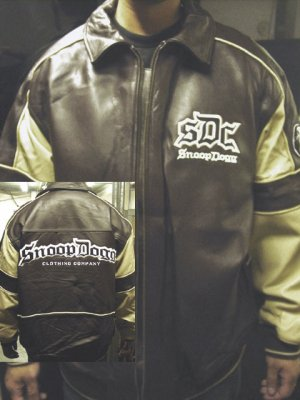 Snoop Dogg authentic brown and beige genuine leather coat