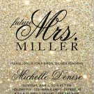 Invitation | Gold Glit Fab future Mrs. Bridal Shower 3  (Qty 10)