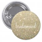Buttons - Gold Fab Bridesmaid (Qty 5)