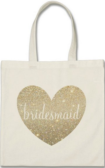 Tote Bag - Heart Fab Bridesmaid (Qty 1)