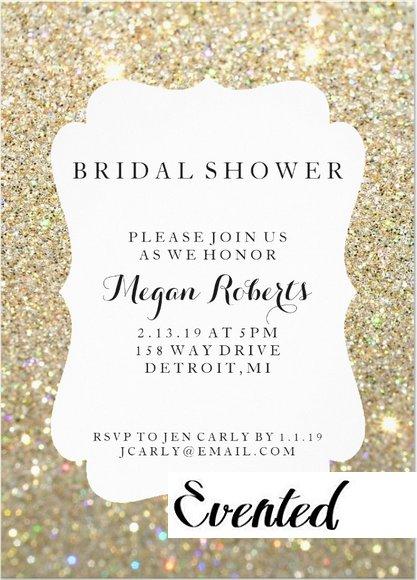 Invitation   Bridal Shower Day Fab - Gold  (Qty 10)