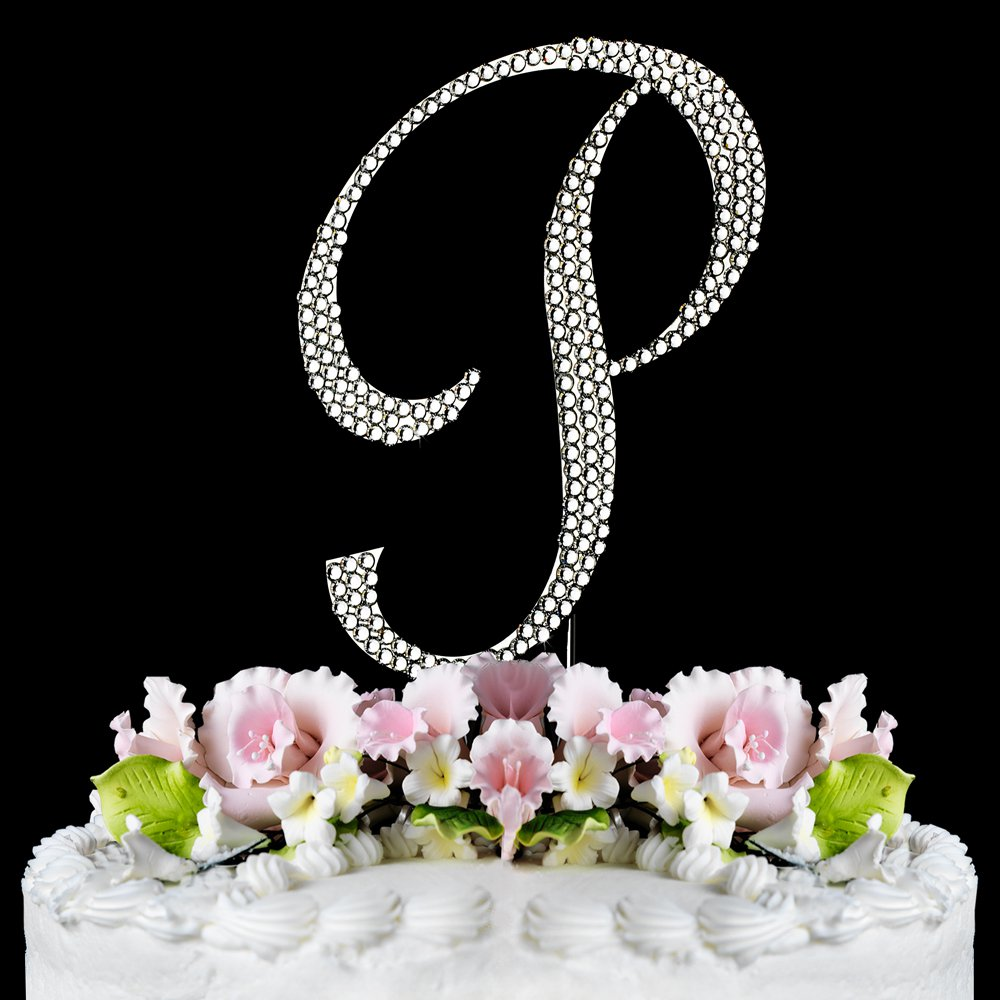 Small - Swarovski Crystal Alphabet Wedding Cake Toppers