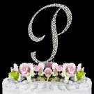 Small - Swarovski Crystal Alphabet Wedding Cake Toppers