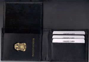 FBI Family Member Credit Card Wallet with Antique Mini Badge included - CT-70