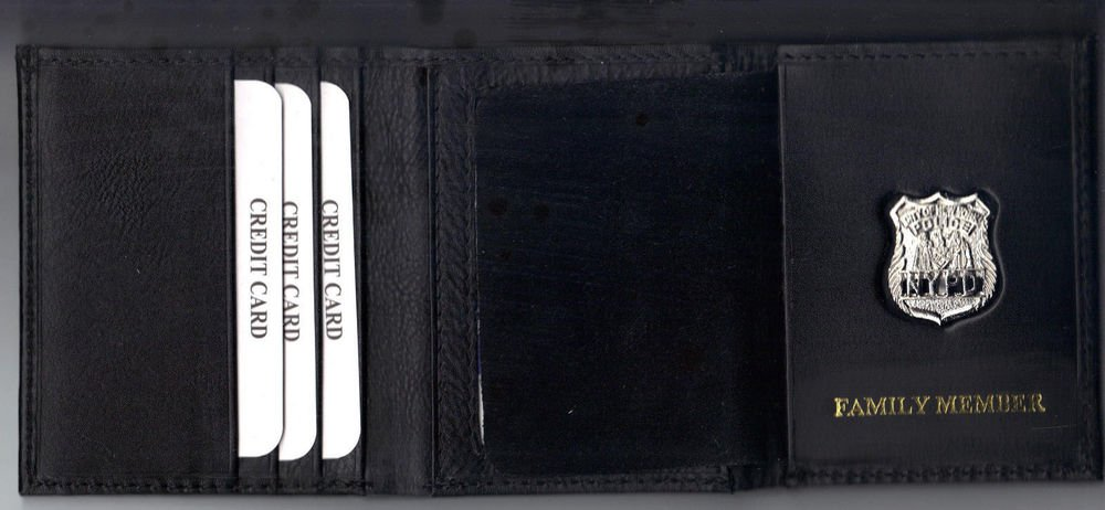 NYPD-Style Union Mini Badge Officer's Family Member Wallet money/cc w/Gift Box