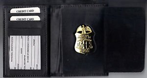 FBI Badge Cut-Out Wallet holds ID Cards/Driver License/+ - (Badge Not Included)