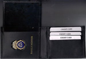 DEA Family Member Credit Card Wallet with Antique Mini Badge included - CT-70
