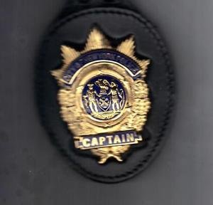 NYPD-Style Captain's Badge Cut-Out Belt Clip - (Badge Not Included)