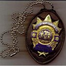 NYPD-Style Deputy Inspector Badge CutOut Neck Hanger w/Chain Badge Not Included