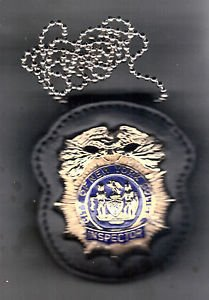 NYPD-Style Inspector Badge CutOut Neck Hanger/Belt Clip Combo Badge Not Included