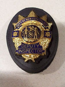 NYPD-Style Deputy Inspector's Badge Cut-Out Belt Clip - (Badge Not Included)