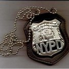 NYPD-Style Officer Badge CutOut Neck Hanger/Belt Clip Combo (Badge Not Included)