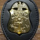 FBI Badge Cut-Out Small Belt Clip/Neck Hanger Combo Unit - (Badge Not Included)