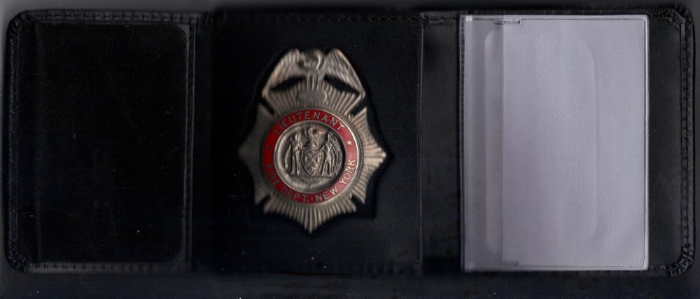 FDNY-Style-Fire Ranking Officer's Tri-Fold money & credit cards Wallet CT09