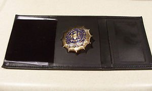 NYPD-Style-Lieutenant Tri-Fold money/credit card Wallet (Badge Not Included CT09
