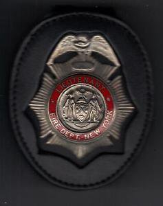 FDNY-Style-Fire Ranking Officer's Badge Cut-Out Belt Clip (badge NOT included)