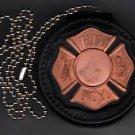 FDNY-Style-Fireman's Maltese Cross Badge Cut-Out Neck Hanger/Belt Clip combo