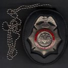 FDNY-Style-Fire Ranking Officer's Badge Cut-Out Neck Hanger/Belt Clip combo