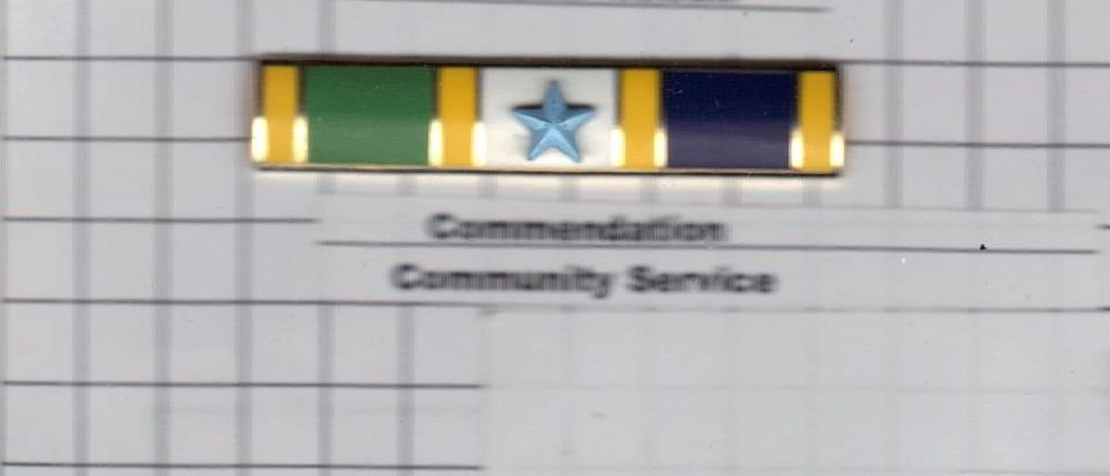 Commendation Bar for Community Service as authorized by the NYPD-Patrol-Guide