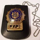 NYPD-Detective-Style Cut-Out Shield & ID Neck Holder w/chain (Badge Not Included