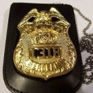 NYPD-Sergeant-Style Cut-Out Shield & ID Neck Holder w/chain (Badge Not Included