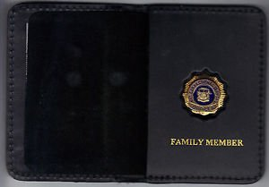 NYS Dept of Correctional Services Family Member Wallet (Mini Badge Included)