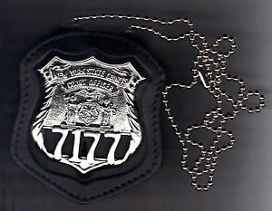 NYS Court Officer Badge CutOut Neck Hanger/Belt Clip Combo (Badge Not Included)