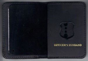 NYPD-Style-Officer's Husband Walleet holds the mini (mini badge not included)