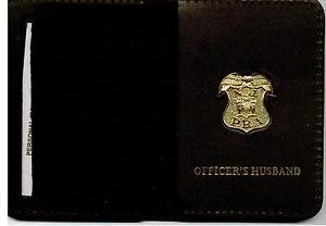 New Jersey P.B.A. Officer's Husband Wallet (Gold Plated Mini Badge Included)