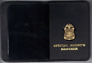FBI Special Agent's Brother Wallet with Antique Mini Badge (from MCO Quantico)