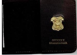 New Jersey PBA Officer's Grandfather Wallet (Gold Plated Mini Badge Included)