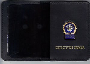 NYPD-Style-Detective Father Mini Wallet (with Blue Panel Mini)