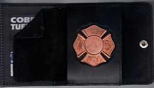 FDNY-Style FireFighter Maltese Cross Badge Snap Wallet (Badge Not Included)
