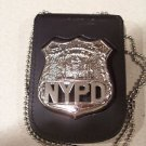 NYPD-Style Officer Shield & ID Card Neck Holder (Badge & ID Card Not Included)