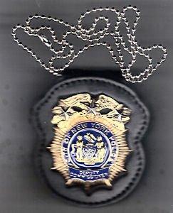 NYPD-Style Deputy Commissioner Badge Cut-Out Neck Hanger/Belt Clip (No Badge)