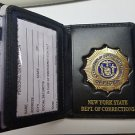 NYS-DOCS Officer Badge/ID/DL/CC Wallet w/Gold Leaf Lettering (Badge Not Included
