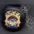 NYPD-Style Chief Inspector Badge Cut-Out Neck Hanger (Badge Not Included)