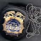 NYPD-Style Chief of Detectives Badge Cut-Out Neck Hanger/Belt Clip (No Badge)