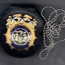 NYPD-Style Chief Internal Affairs Badge Cut-Out Neck Hanger/Belt Clip (No Badge)