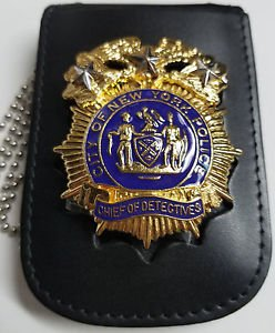 NYPD-Style Chief of Detectives Shield/ID Card Neck Holder  Badge/ID Not Included