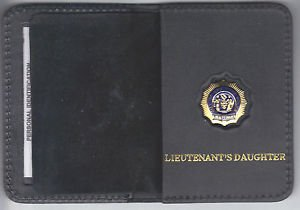 NYPD-Style Lieutenant's Daughter Mini Book Wallet with Mini badge included
