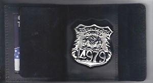 NYPD-Style-Officer Badge Cut-Out Shield/ID Wallet (Badge Not Included)