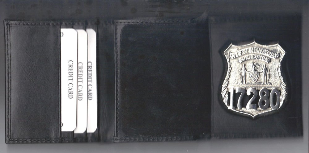 NYC Corrections Officer's Wallet holds Badge/money/credit cards with a Gift Box