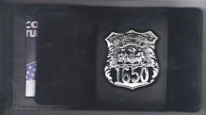 NYC Hospital Police Officer Cut-Out Shield/ID Wallet (Badge Not Included)