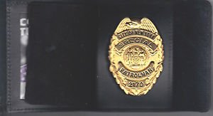 NYPD-Style-School Safety Teardrop Shield/ID Wallet (Badge Not Included)