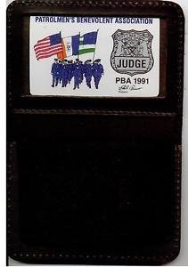 NYPD-Officer's Family Member Mini Wallet (with Mini & 1991 Judge PBA Card)