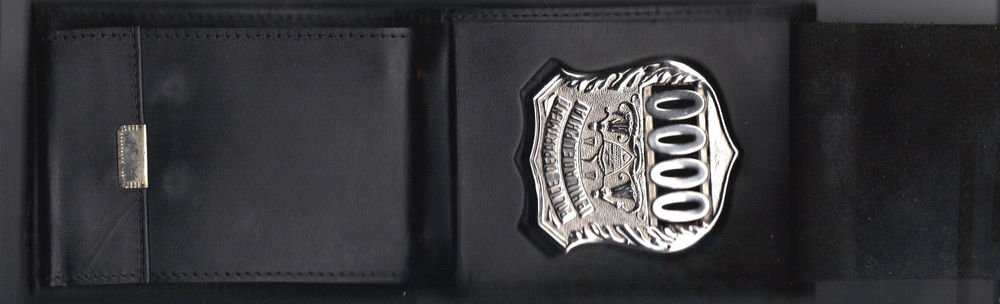 Philadelphia Police Officer Shield/ID Billfold Picture Wallet Badge Not Included